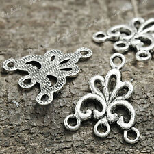 60 Tibet Tibetan Silver Flower Connector Links TS0975