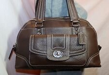 COACH Brown Leather Medium Shoulder Hobo Tote Slouch Purse Bag