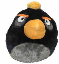 "Angry Birds Plush Black Backpack 12"", New"