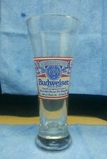Budweiser Pilsner Glass This Bud's For You Logo  Collectible Bar Ware