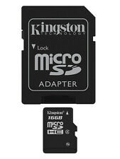 Kingston 16GB High Capacity Micro SD Card with SD Adapter Class 4