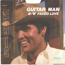 ELVIS PRESLEY--PICTURE SLEEVE + 45---(GUITAR MAN)--PS--PIC--SLV