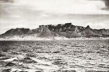 1934 Vintage 11x14 ~ AFRICA ~ Cape Town Mountain Seascape Landscape Photo Art