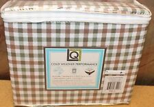 NEW LIVING QUARTERS QUEEN SIZE GINGHAM PLAID ULTRA SOFT 4PC SHEET SET SHEETS