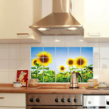 sunflower Style Practical PVC Waterproof Oil-proof Kitchen Wall Sticker Paper US
