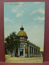 Old Postcard RI Pawtucket Post Office 1910 view