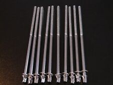 """Set of 10 New Chrome 5"""" Bass Drum Tension Rods, Worldwide Shipping"""