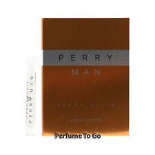 Perry Man for Men by Perry Ellis * NEW Fragrance Travel Vial Sample * EDT Splash