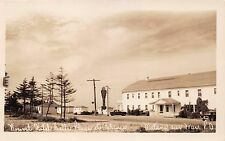 MATANE SUR MER QUEBEC NOUVEL HOTEL BELLE PLAGE ET CABINES~REAL PHOTO POSTCARD