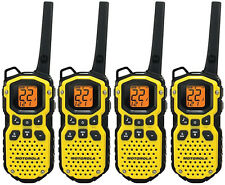 4 Motorola TalkAbout MS350 FRS GMRS Walkie Talkie 2WAY Rechargeable Radio TESTED