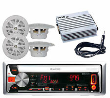 "Kenwood Car Marine CD USB MP3 Pandora Radio with 4x 4"" Speakers,400W Amp+Antenna"