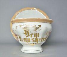 (G239) Große Tasse, Krister Waldenburg Schlesien um 1870, ' Dem Hausherrn '