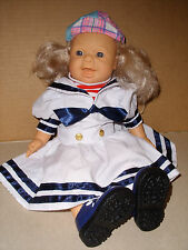 """FAMOSA 15"""" Soft Vinyl And Cloth Lifelike Toddler Baby Doll With Winking Eye 1995"""