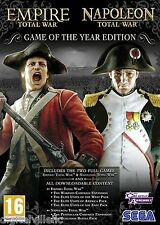 Empire and Napoleon Total War Collection Game of the Year PC Brand New Sealed