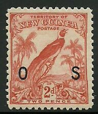 Album Treasures New Guinea Scott # O25 2p Bird of Paradise O S Overprint MH