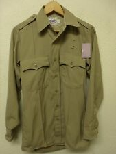 Elbeco 'Duty Plus' Tan Police/CHP Uniform Long Sleeve Shirt, Size 14x32 (A2441)