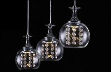 3lights Modern Crystal Wineglass Wine Glass Bar Ceiling Lighting Pendant Lamp