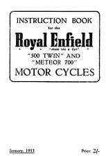 Royal Enfield 1953 500 Twin & Meteor 700 instruction book