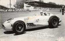 RPPC JACK McGRATH INDIANAPOLIS MOTOR SPEEDWAY RACE CAR REAL PHOTO POSTCARD 1954