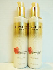 Bath Body Works Japanese Cherry Blossom Flawless Gold 24K Silk Lotion, NEW x 2