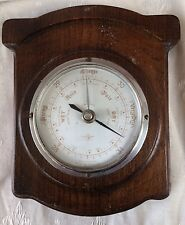 ANTIQUE BAROMETER,EARLY 20TH CENTURY ANAROID BAROMETER IN ART DECO OAK CASE,G/C