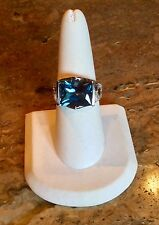 """VICTORIA WIECK"" *ABSOLUTE SIMULATED INDICOLITE TOURMALINE SZ 8 RING GORGEOUS!!"