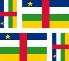 4 x flag decals sticker scooter car vinyl motorcycle Central African Republic