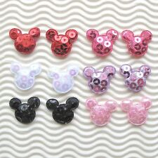 "US SELLER-  60pc x 7/8"" Padded Shiny Sequined Felt Mouse Appliques/Mickey ST222M"
