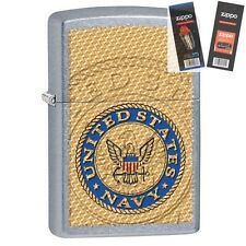Zippo 29384 United States Navy Street Lighter with *FLINT & WICK GIFT SET*