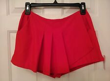 Red Women's Size 9 Born To Rule Pleated Mini Skirt Skort