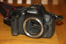 Canon EOS750D DSLR Camera Body - Impact Damaged - Free Delivery - No reserve !!