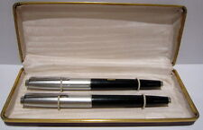 "VINTAGE LUXURY SET 2 FOUNTAIN PEN""CENTROPEN 3717""WITH LOGO,CZECHOSLOVAKIA # 82B"