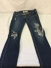 JUNIORS Womens Hollister Distressed Jeans Size 0S W24 L29