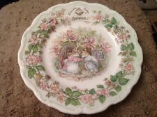 """Royal Doulton Brambly Hedge Summer 8.25"""" 20cm Plate Boxed (796)"""