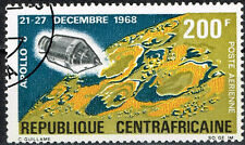 Central African Republic US Space Exploration Apollo 8 on Moon stamp 1968