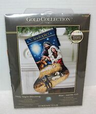 2009 Gold Collection Dimensions Holy Night Stocking Counted Cross Stitch Kit