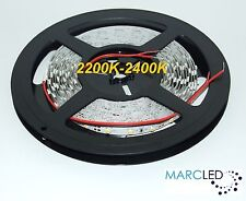 12VDC SMD3528 LED strip 2200K-2400K, 5m (24W, 300LEDs), IP20 (very warm white)