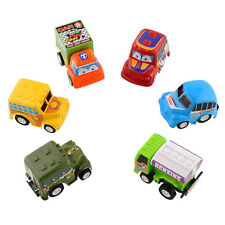 6 Classic Boy&Girl Truck Vehicle Kids Child Toy Mini Small Pull Back Car Racer
