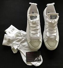 Wedding Bridal Converse With Socks Bling Crystal Custom Personalised 3 4 5 6 7 8
