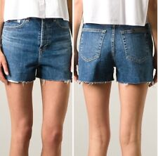 Alexa Chung For AG Women's High Waist Frayed Trim Shorts Size 28