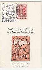 First day card, Argentina, Sc #732, 400th anniv. city of Jujuy, 1961