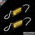 2x Load Resistor Fast Flash LED Bulb Turn Signal Fix Blink OBC Error free 50W