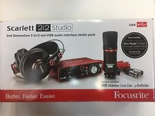 New Focusrite Scarlett 2i2 Studio (2nd Gen) USB Audio Interface Fast Shipping