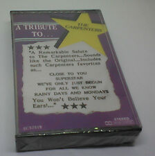 A Tribute To The Carpenters Cassette SEALED