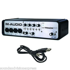 M-Audio M-TRACK QUAD a 24 bit 4 CANALI USB MIDI Audio Interface mtrack + software