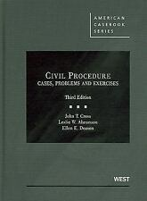 Civil Procedure, Cases, Problems and Exercises, 3d (American Casebooks)
