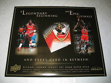 """Michael Jordan Upper Deck Legacy Collection 25""""x30"""" Poster RARE Not Folded NEW"""