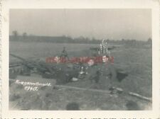 8 x Foto, Flak, Einsatz Westfront bis Italien, Gien bis Caen 1940 (N)1166