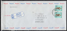 1990 UAE, R-Cover Sharjah to Germany, Birds Falcon Vögel Falke [cm784]