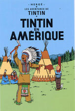 POSTCARD Hergé ADVENTURES OF TINTIN, TINTIN in America
